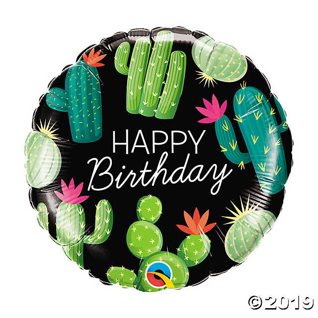 18 inch Birthday Cactusus Balloon