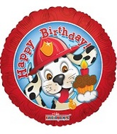 18 inch Happy B-Day Fire Dalmatian (1)