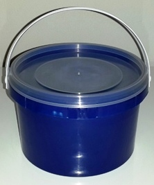 Navy Blue Party Bucket with Lid (1 Litre) (1)