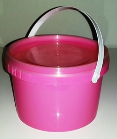 Pink Party Bucket with Lid (1 Litre) (1)
