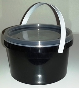 Black Party Bucket with Lid (1 Litre) (1)