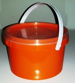 Orange Party Bucket with Lid (1 Litre) (1)