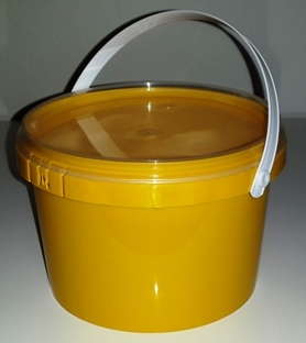 Yellow Party Bucket with Lid (1 Litre) (1)