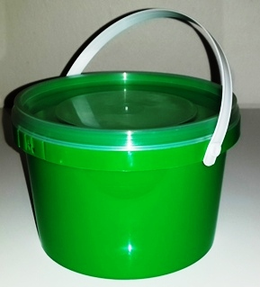 Green Party Bucket with Lid (1 Litre) (1)