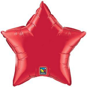 Mettallic Red Star Foi Balloon (45cm / 18inch)