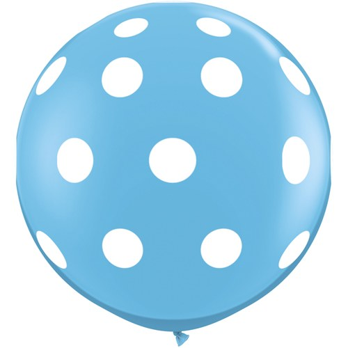 3ft Big Polka Dots-A- Round Robin's Egg (1 count)