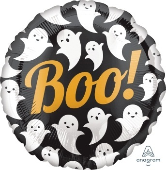 Boo! Ghosts 18 inch Foil Balloon (43cm)