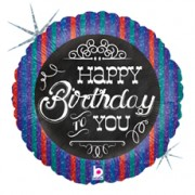 18 inch Foil Birthday Chalk Board