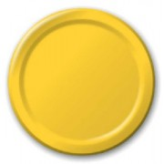 Plain Yellow Paper Plates (8 units)