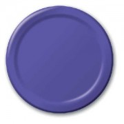 Plain Purple Paper Plates (8 units)