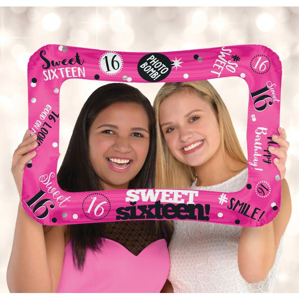 Sweet 16 Inflatable Frame (Inflate with Air! No Helium Required!) (40cm x 58cm)