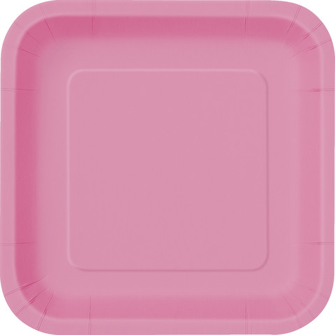 Hot Pink Square Dinner Plate (14)
