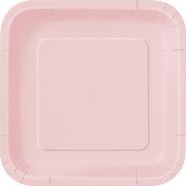 Pastel Pink Square Dinner Plate