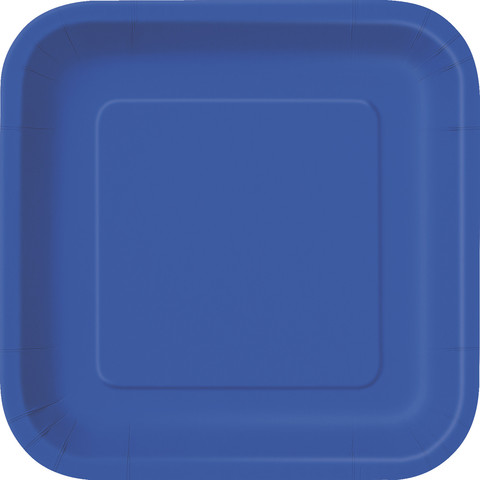 Royal Blue Square Dinner Plate (14)