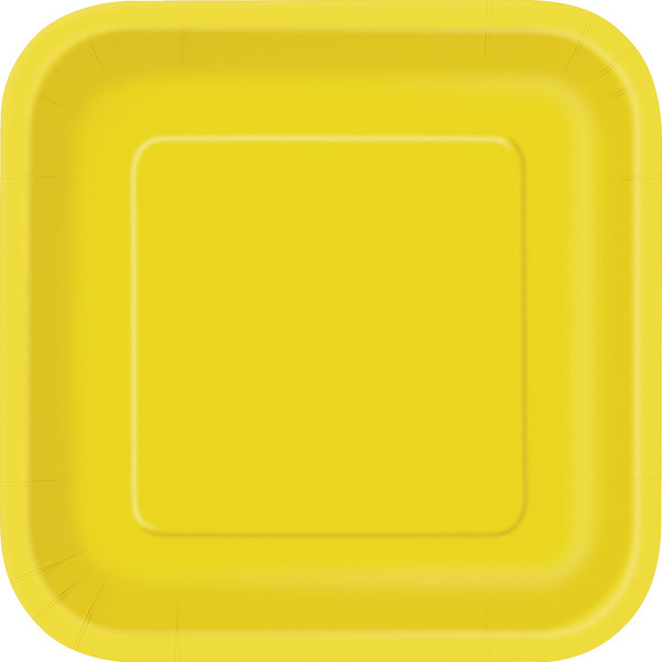 Sunflower Yellow Square Dinner Plate (14)