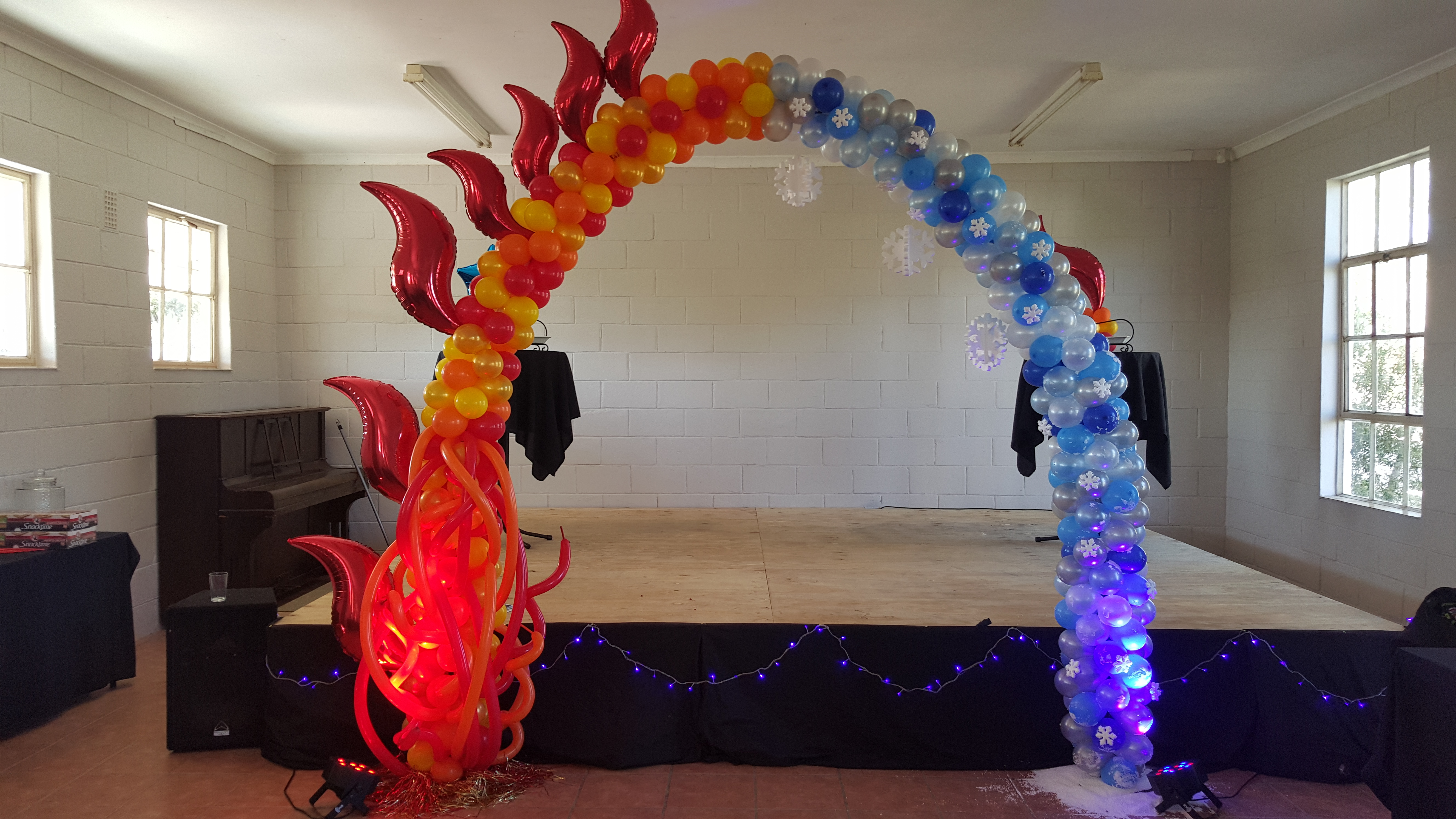 Fire & Ice Balloon Arch