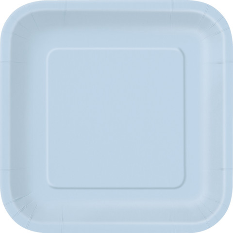Baby Blue Square Dinner Plate (14)