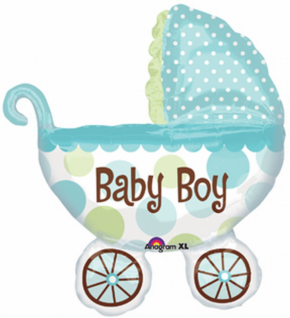 Baby Buggy Boy Super Shape Balloon(79cm x 71cm)