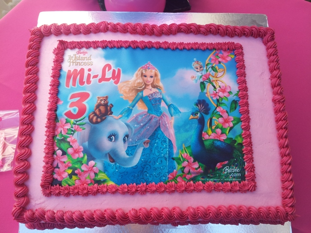 Barbie Island Princess Picture Cake (1)