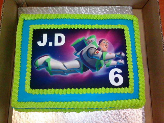 Buzz Lightyear Picture Cake (1) - A