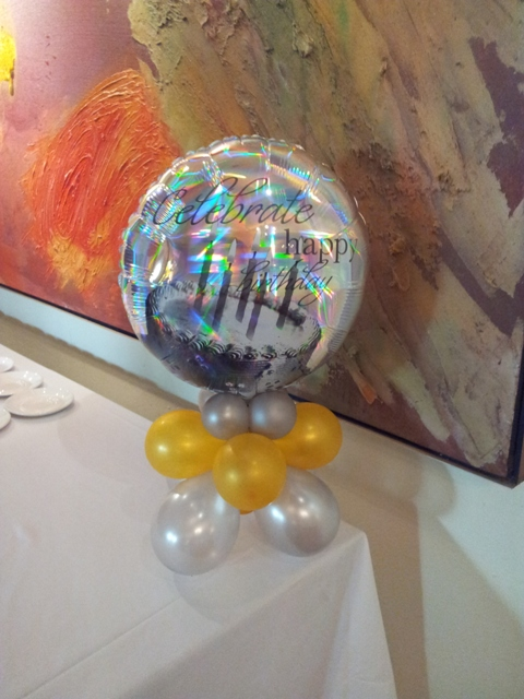 Centerpiece - Holographic 18 Inch Happy Birthday