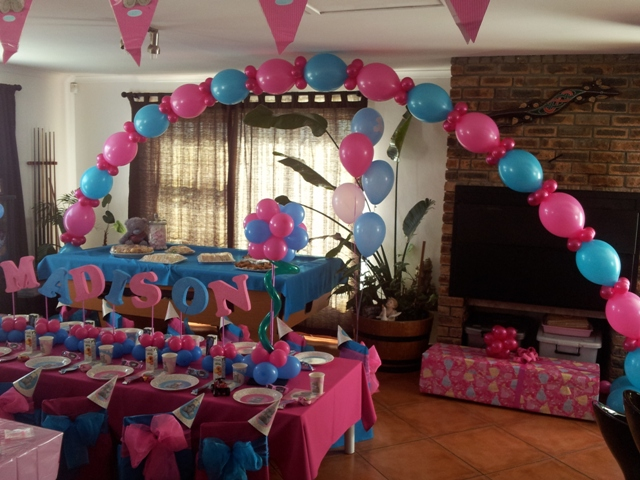Double Door Helium Balloon Arch - E