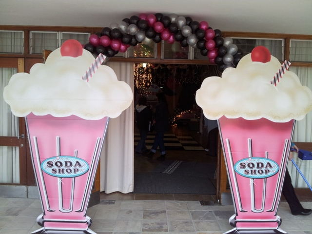 Double Door Helium Balloon Arch - F
