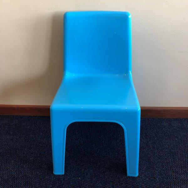 Small Bright Light Blue Chair