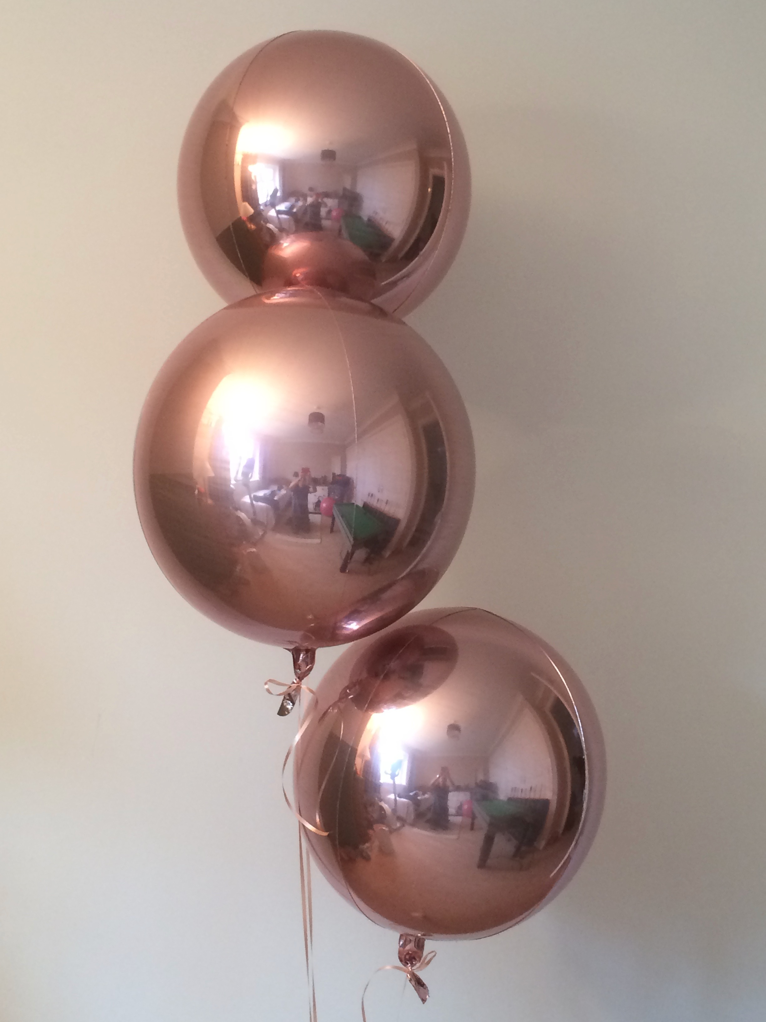 Rose Gold Orbz Balloon (38cm x 40cm) (1pc)