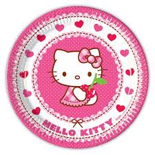 Hello Kitty Hearts Plates (8 units)