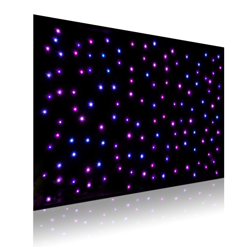 RGB Multicolour LED Backdrop Curtain with frame (2 meter x 3 meter)