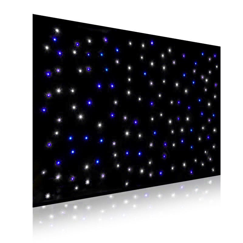 Blue & White LED Starlight Backdrop Curtain with frame (2