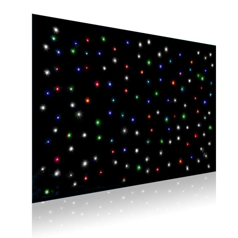 LED 4 in One Starlight Backdrop Curtain with frame (Red, Green, Blue, White) (2 meter x 3 meter)