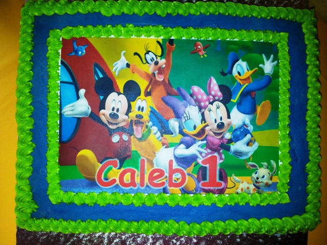 Mickey Mouse Clubhouse Picture Cake (1)