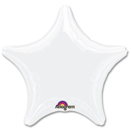 Opaque White Star Foil Balloon (45cm / 18 inch)