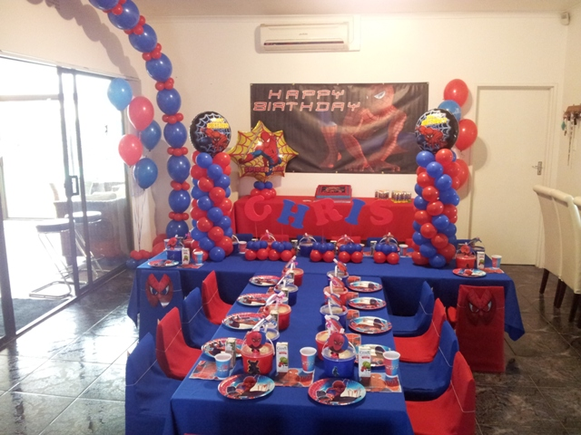 Party Balloon Decor Spiderman