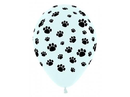 Paw Patrol Paw Print 12 inch Latex Balloon (1 count)