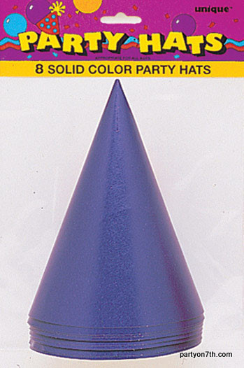 Purple Party Hats (8)