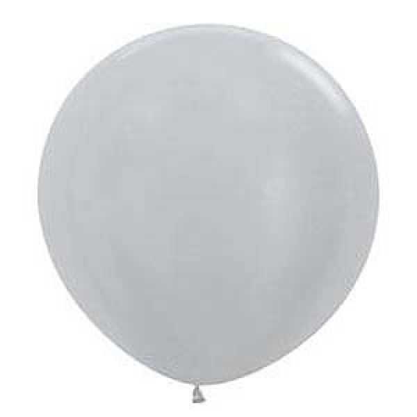 36 inch Silver Latex Balloon