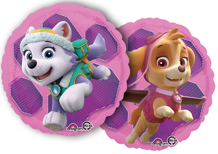 Paw Patrol Skye and Everest (2 Sided Print) 18 inch Foil Balloon (43cm)