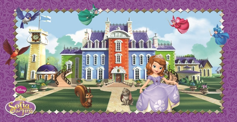 Sofia the First Scene Setter Wall Decoration 150 x 77cm (1)