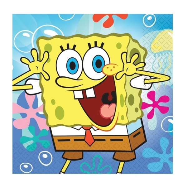 Spongebob Squarepants Lunch Napkins (12 units)