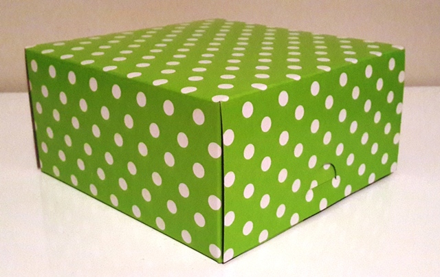 Square Polka Lime with White Dot Box (1)