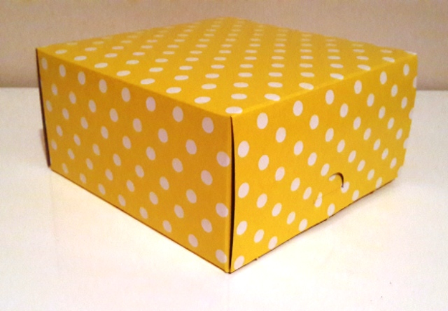 Square Polka Yellow with White Dot Box (1)