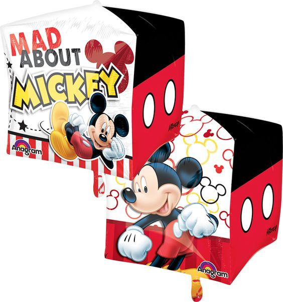 Mickey Mouse Cubez Balloon (4 sided) (1 unit)
