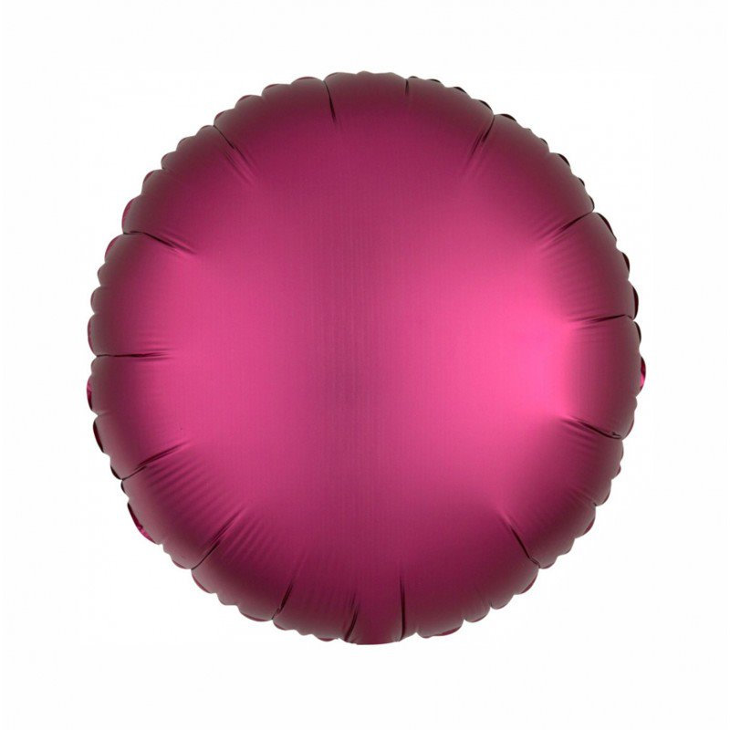 Pomegrante Satin Luxe Round 18 inch Foil Balloon
