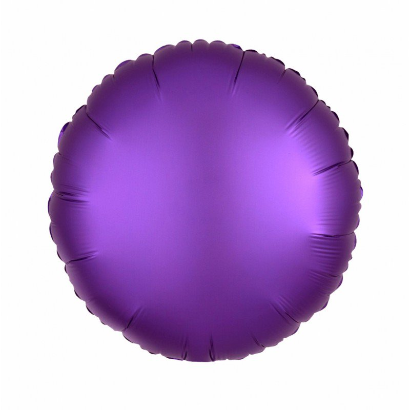 Purple Satin Luxe Round 18 inch Foil Balloon