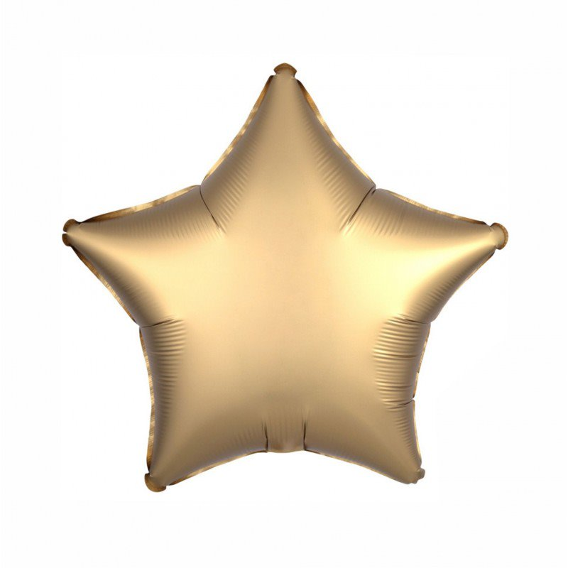 Gold Satin Luxe Star 18 inch Foil Balloon