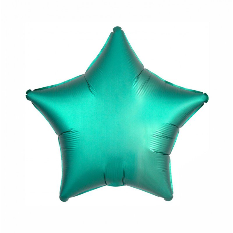 Jade Satin Luxe Star 18 inch Foil Balloon
