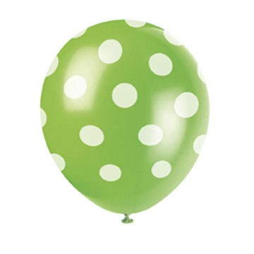 Polka Lime 12 inch Latex Balloon (1)